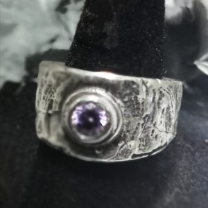 Silver Ladies Rugged Viking Style Ring