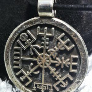 Silver Viking Compass Pendant