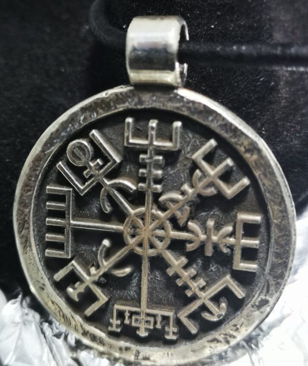 Silver Viking Compass Pendant