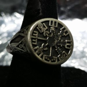Silver Viking Compass Ring